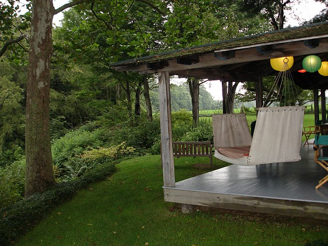 Porch Hammock & View